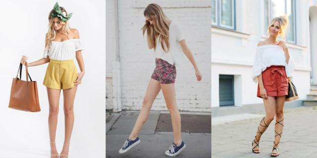 Scarpe da abbinare a shorts a vita alta