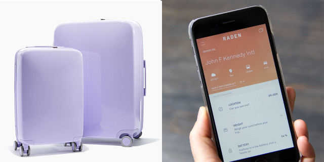 Raden, la Valigia Smart con Localizzatore Gps, Porte Usb e Sensori di Peso!