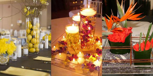 Composizioni floreali da tavolo