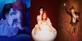I Personaggi Disney Interpretano i Grandi Successi del Cinema Grazie all'arte di Isaiah Stephens.