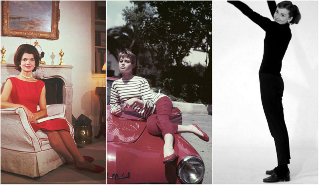 Jaqueline Kennedy, Brigitte Bardot e Audrey Hepburn.