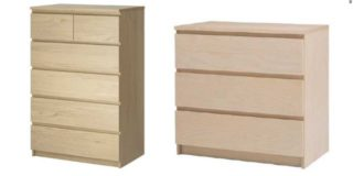 Ikea ritira dal mercato la cassettiera Malm