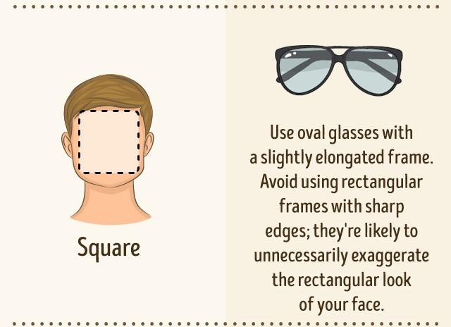 Occhiali da sole viso quadrato