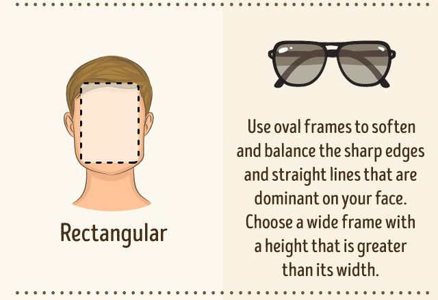 Occhiali da sole per viso rettangolare