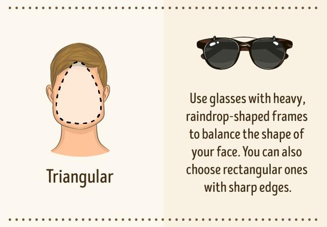 Occhiali da sole per viso triangolare