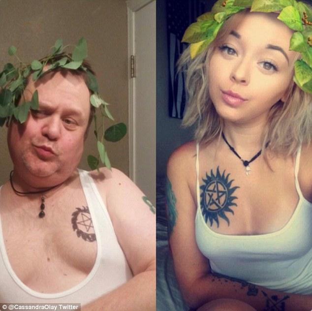 papà imita i selfie della figlia