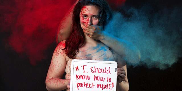 6 scatti per gridare che le donne stuprate sono vittime MAI colpevoli