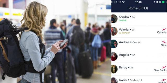 Viaggi da sola? Ecco l'app che ti fa incontrare (e rimorchiare) altre persone sole in aeroporto