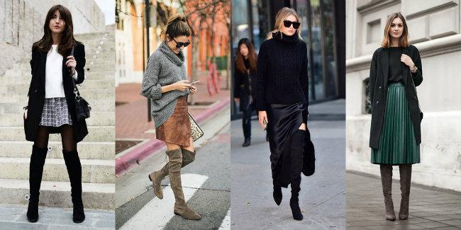 outfit eleganti con stivali alti