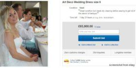 Vende l'abito da sposa su Ebay e guadagna oltre 65mila dollari grazie all'esilarante descrizione
