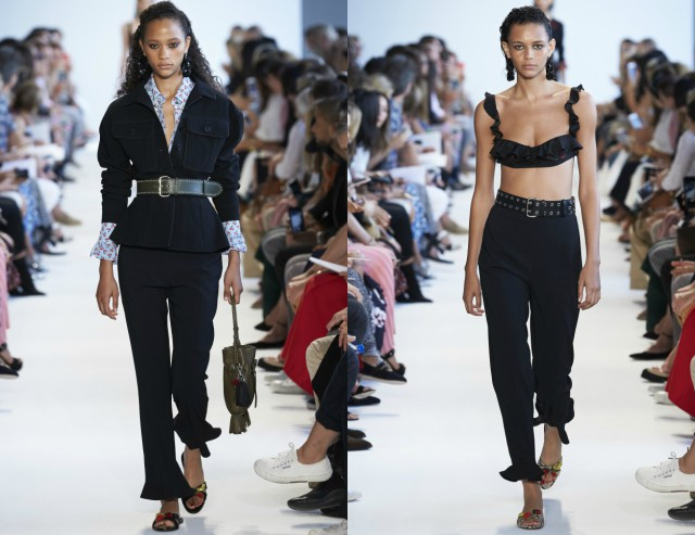 Frilled Cropped Flares