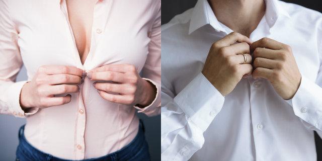 Perché le camicie da uomo hanno i bottoni a destra e quelle delle donne a sinistra?