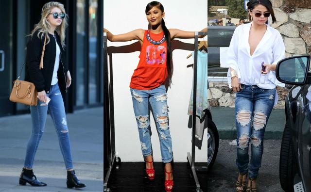 Jeans strappati abbinamenti