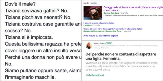 """""""Tiziana seviziava gattini, picchiava bambini, costruiva case antisismiche poi crollate? NO!"""""""