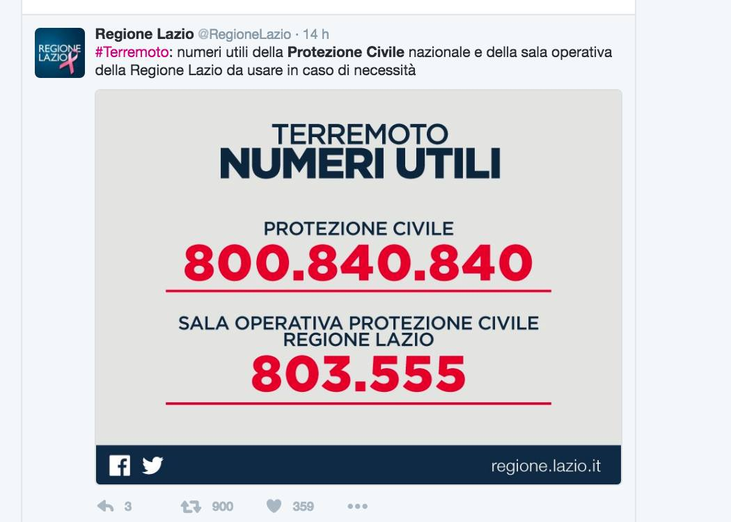 Fonte: regione Lazio