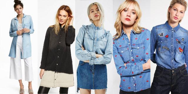Proposte moda di camicia jeans donna 2016