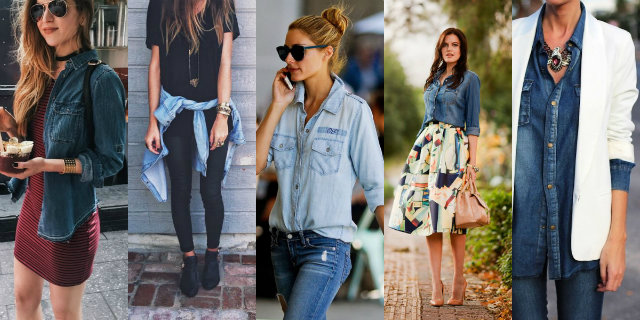 Camicia jeans donna outfit