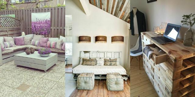 con i bancali e creare mobili, divani e letti con il fai da te
