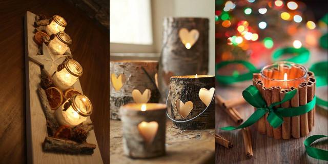 Portacandele fai da te le idee pi belle e originali - Decorazioni natalizie legno fai da te ...