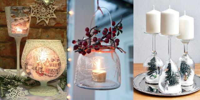 Portacandele fai da te le idee pi belle e originali roba da donne - Portacandele natalizi fai da te ...