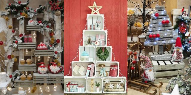 Arredare con le cassette di legno roba da donne - Decorazioni natalizie in legno ...