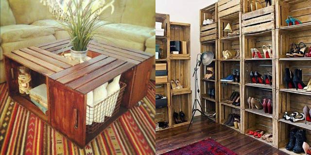 Arredare con le cassette di legno roba da donne - Mobili con legno di recupero ...