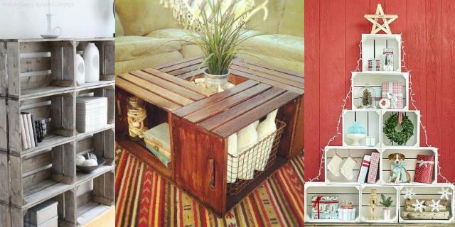 Arredare con le cassette di legno roba da donne - Decorazioni in legno per mobili ...