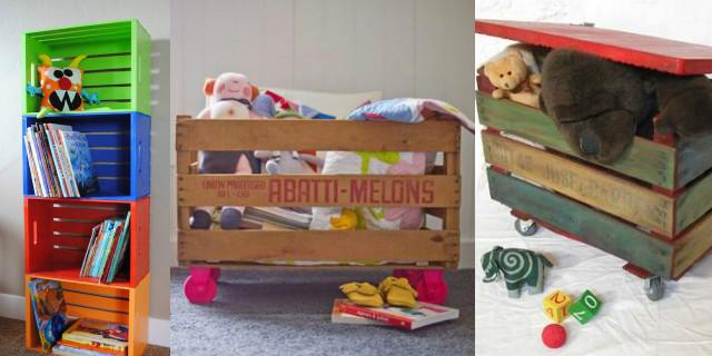 Arredare la cameretta dei bambini con le cassette di legno