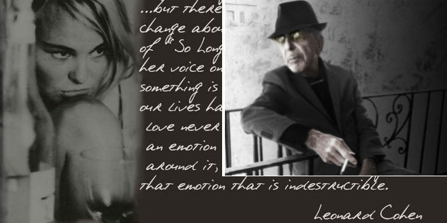 """""""Buon viaggio, amore infinito"""": quella lettera di Leonard Cohen a Marianne prima della morte"""