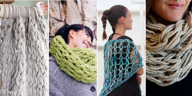 Arm Knitting, scopri come realizzare questi 4 capi a maglia... usando le mani
