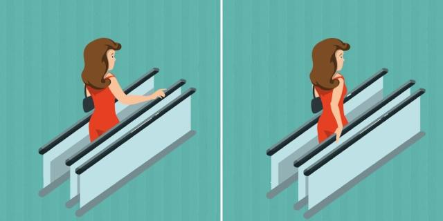 Sai perché i corrimano vanno più lentamente della scala mobile che sale?