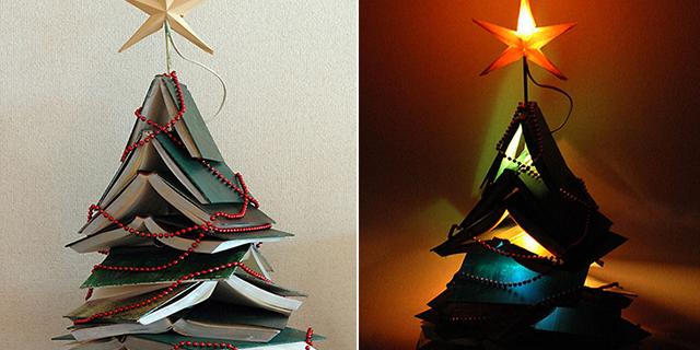 Alberi di Natale riciclo creativo