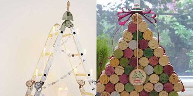 Come fare 10 bellissimi alberi di Natale fai da te