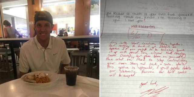 """""""Quando la tua ex ti scrive una lettera di scuse e tu gliela rimandi corretta"""" con la penna rossa"""