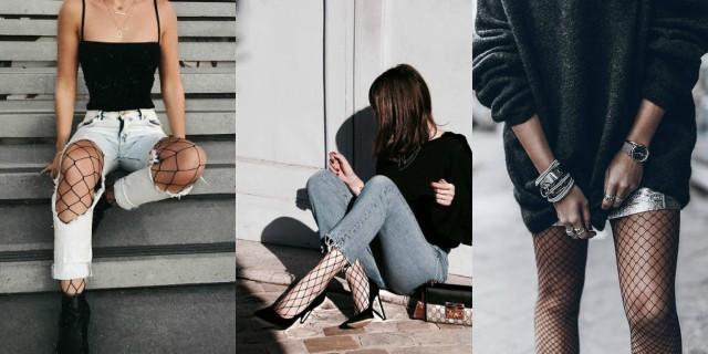 Tempo di togliere i collant, non le calze a rete: come abbinarle