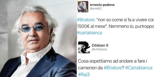 """Briatore choc: """"Non so come si possa vivere con 1300 euro al mese"""""""