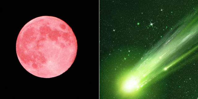 Occhi al cielo: arrivano la luna rosa e la cometa verde
