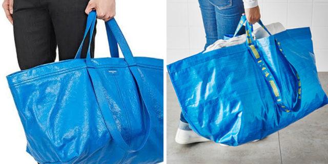 """Balenciaga """"copia"""" la mitica borsa blu: la risposta di IKEA è geniale"""
