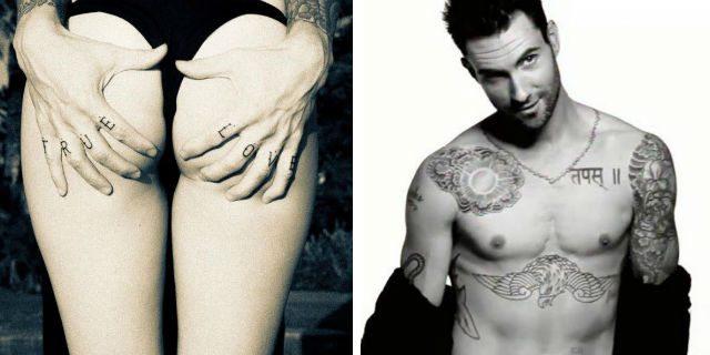 Adam Levine, la dichiarazione d'amore alla moglie tatuata sulla pelle