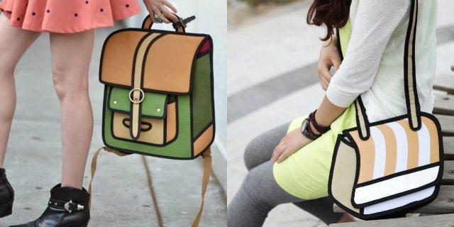 Indossa queste borse e ti sembrerà di essere in un cartone animato