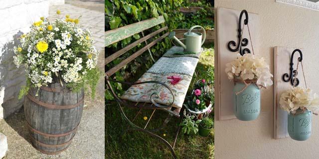 Country chic: 10 idee fai da te per una casa e un giardino da invidiare