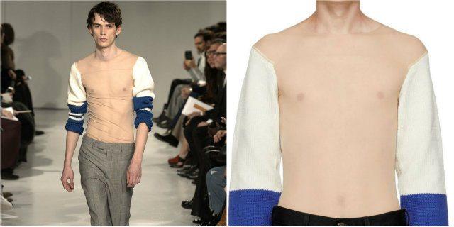 Il maglione trasparente firmato Calvin Klein è già sold out (non nella versione da donna)