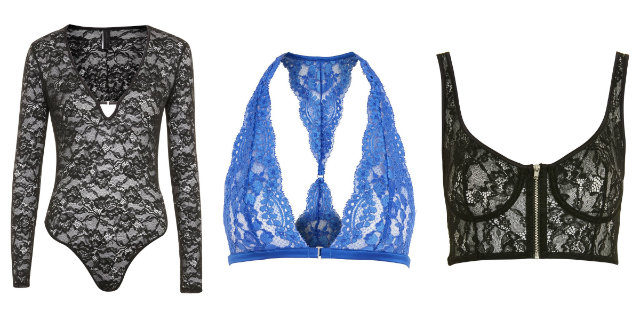 Lingerie pizzo topshop