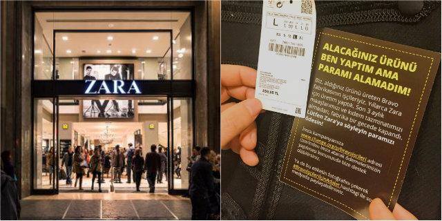 Biglietti misteriosi nei vestiti di Zara: è la protesta dei