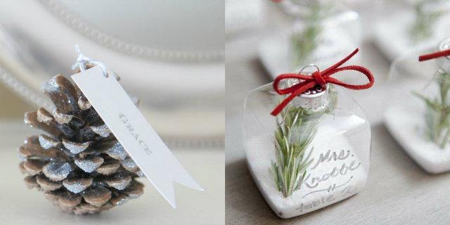 Segnaposti Matrimonio Natalizio : Riciclo creativo come creare dei portacandele natalizi