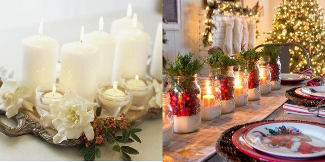Centrotavola natalizio fai da te 5 idee originali roba da donne - Portacandele natalizi fai da te ...