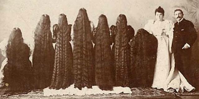 Come le sette sorelle Sutherland divennero ricche grazie ai loro 12 metri di capelli