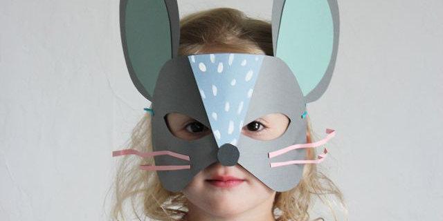 Maschera di carnevale fai da te bambini