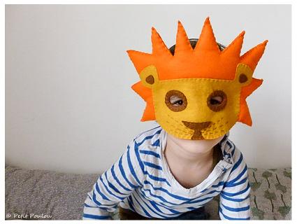 Maschera di carnevale fai da te per bambini