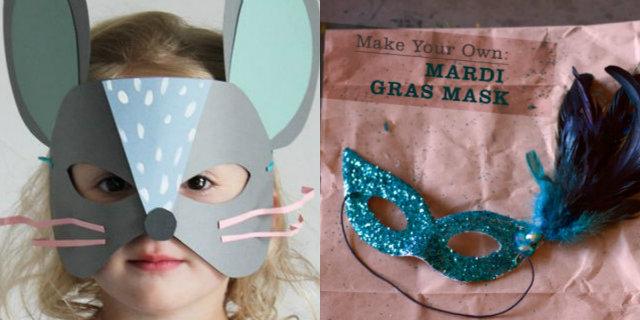 Maschere di carnevale fai da te per adulti e bambini